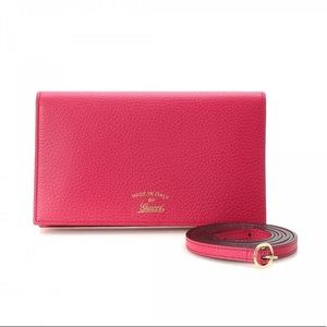 NWOT - GUCCI Swing Leather Wallet w/ Strap
